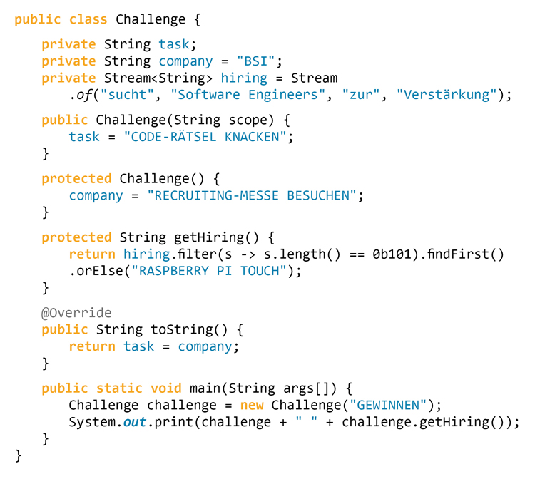Code Rätsel